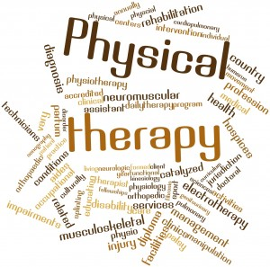 Abstract word cloud for Physical therapy with related tags and terms