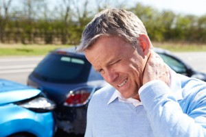 Driver Suffering From Whiplash After Traffic Collision pain neck car motor vehicle accident