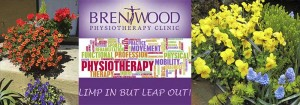 brentwood physio flower logo limp leap physiotherapy pretty