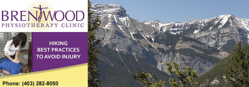 injury prevention hiking alberta rockies mountain trees brentwood physio